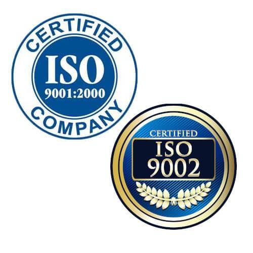 certificazioni ISO 9001:2000 e ISO 9002